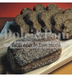Preparato per Pane Nero Ricco di Fibre con Cereali Integrali, Soia e Semi